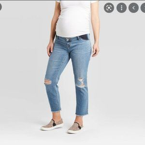 Distressed Straight Maternity Jeans Size 6